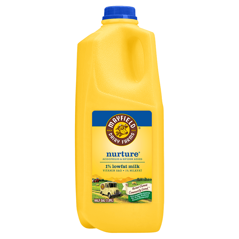 Nurture 1% Low-Fat Milk Plastic Half Gallon
