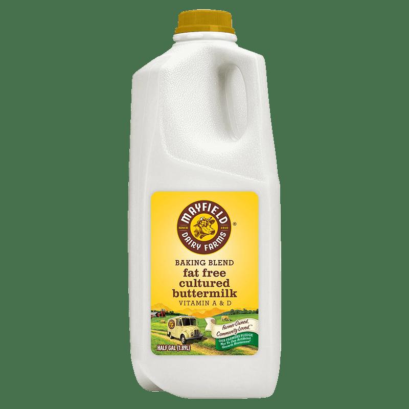 Fat-Free Cultured Buttermilk Plastic Half Gallon