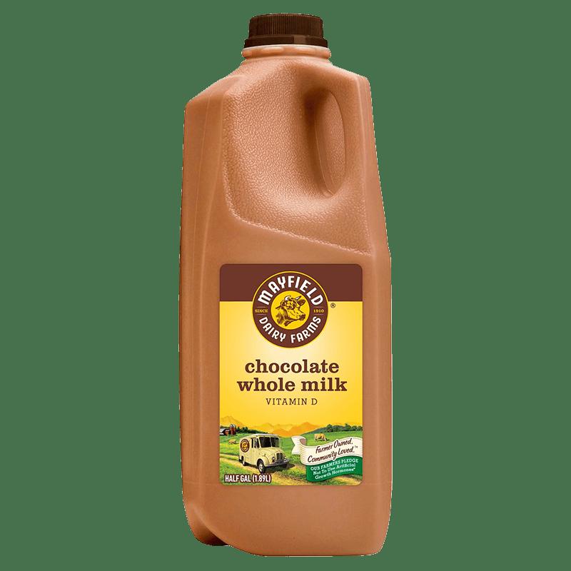 Whole Chocolate Milk Plastic Half Gallon