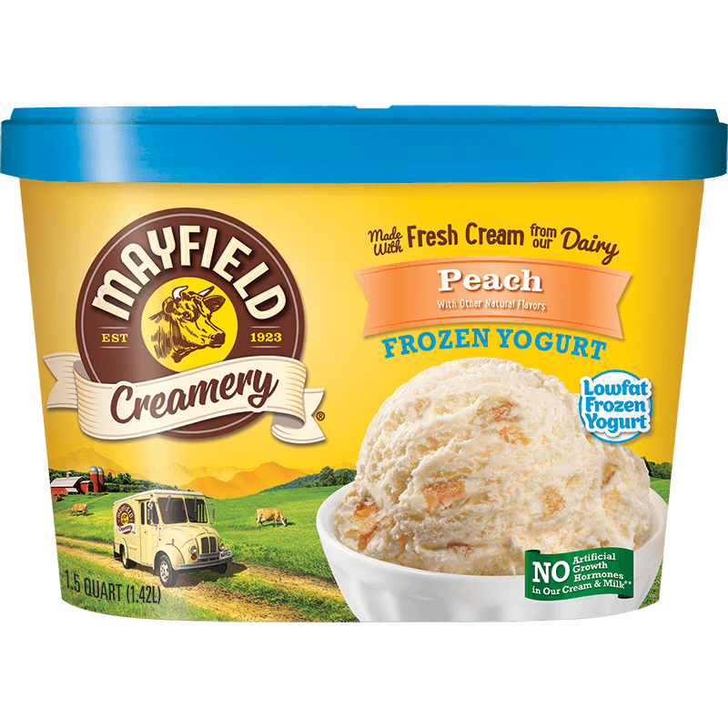 Peach Frozen Yogurt 1.5 Quart