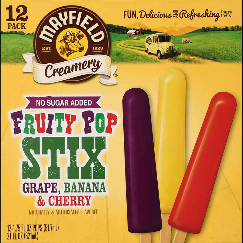 Fruity Pop Stix (No Sugar Added) 12 Pk
