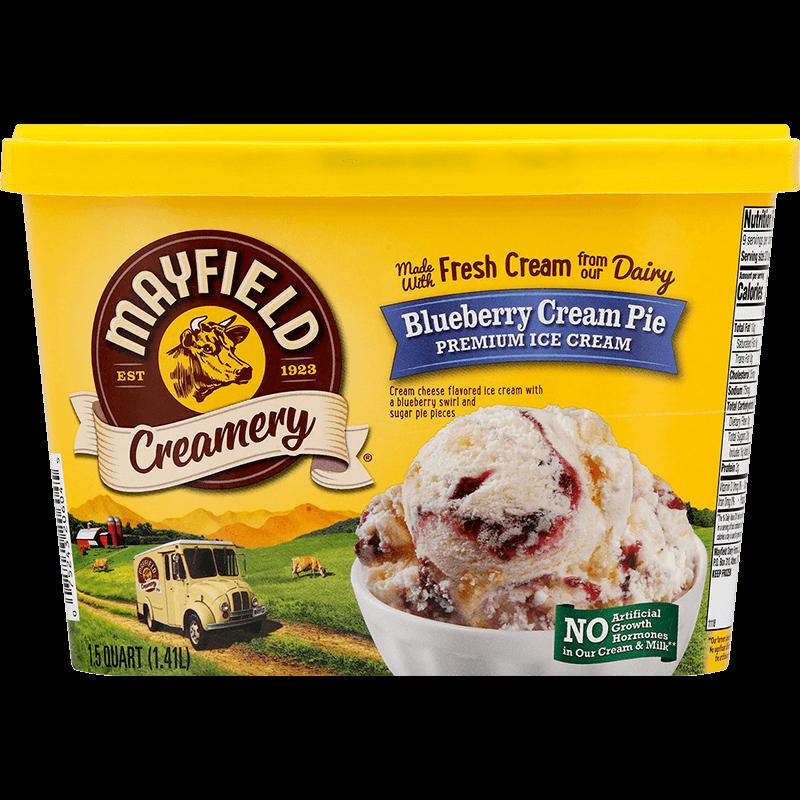 Blueberry Cream Pie Ice Cream 1.5 Quart
