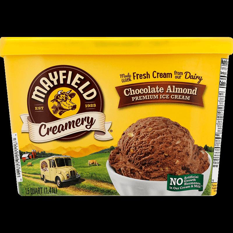 Chocolate Almond Ice Cream 1.5 Quart