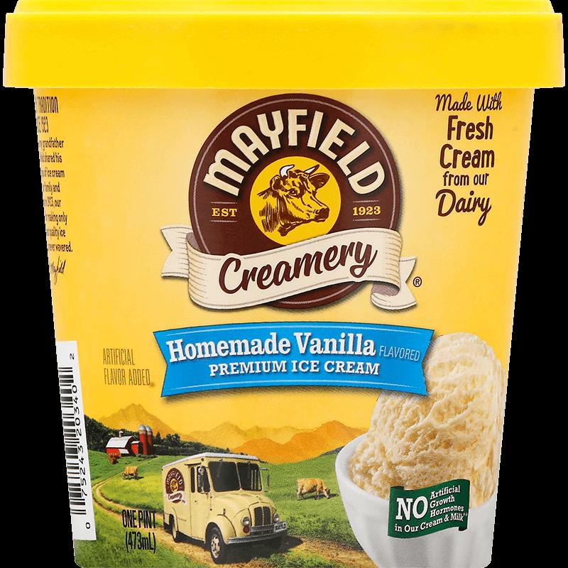 Homemade Vanilla Ice Cream Pint