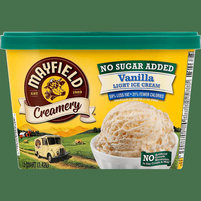 Vanilla Ice Cream (No Sugar Added) 1.5 Quart