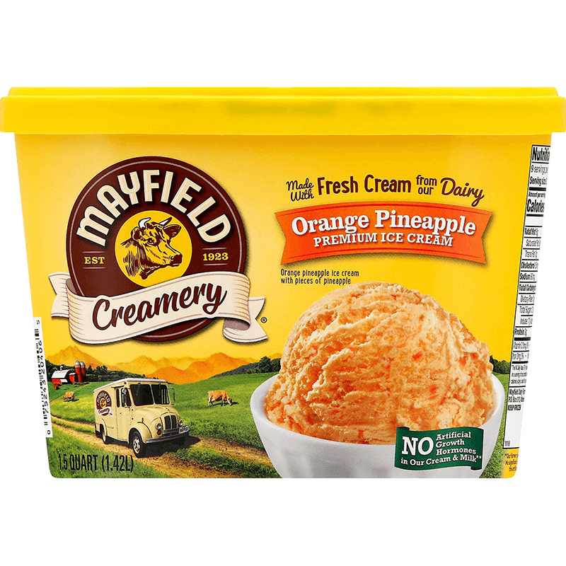 Orange Pineapple Ice Cream 1.5 Quart