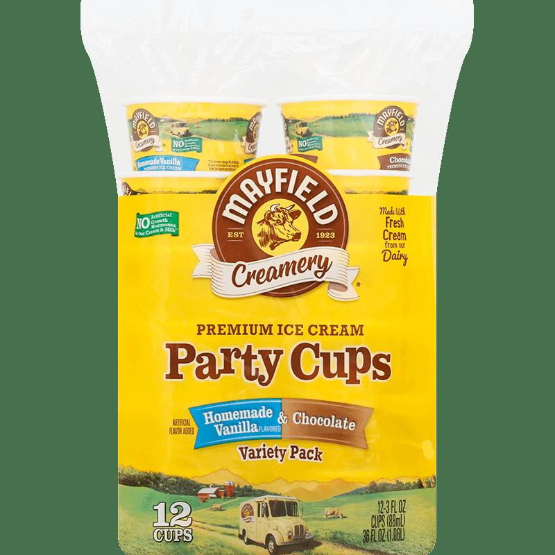 Homemade Vanilla & Chocolate Party Cups 12 Pk