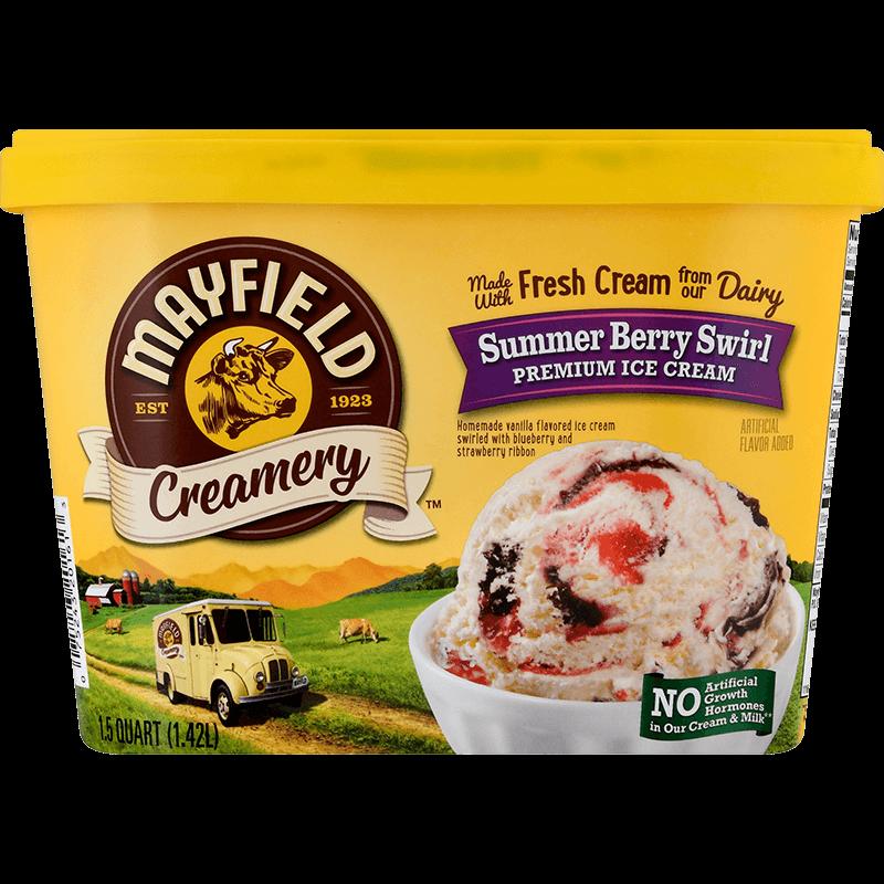 Summer Berry Swirl Ice Cream 1.5 Quart