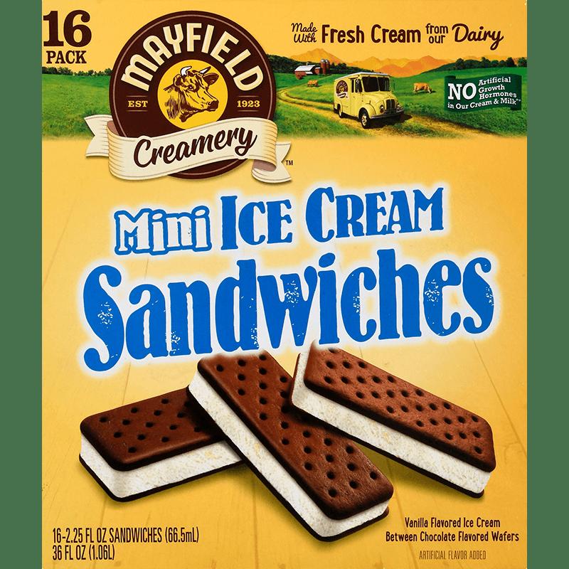 Mini Ice Cream Sandwiches 16 Pk