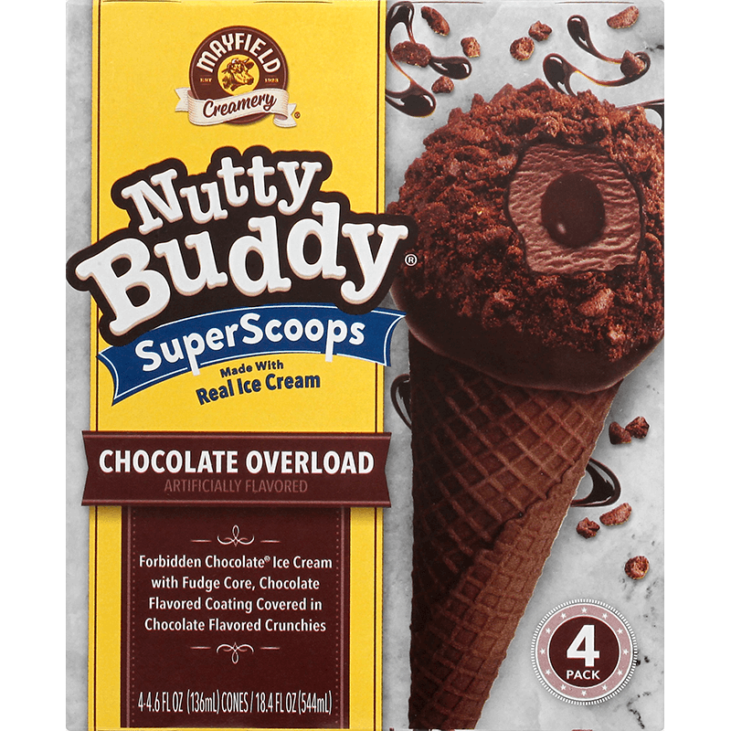 Nutty Buddy Chocolate Overload 4 Pk