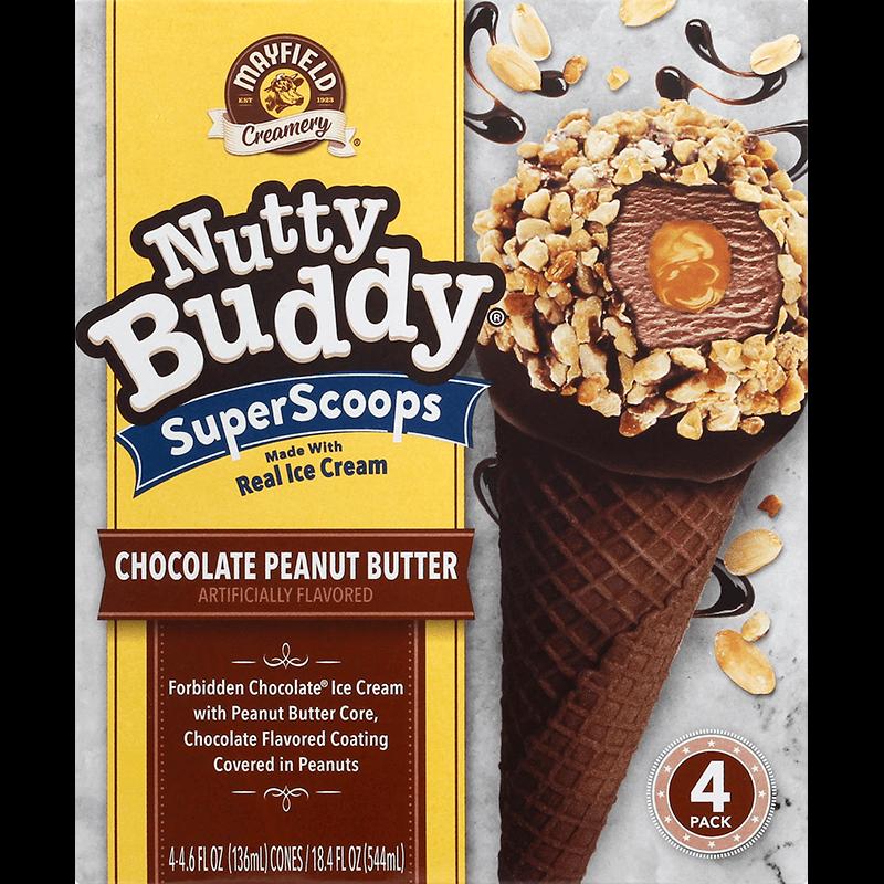 Nutty Buddy Chocolate Peanut Butter 4 Pk