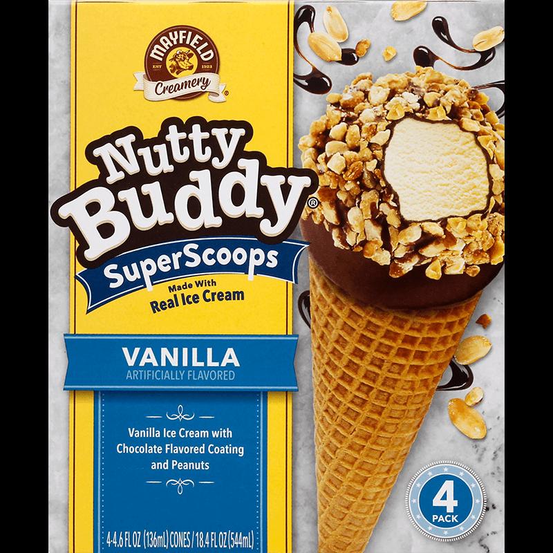 Nutty Buddy Vanilla 4 Pk