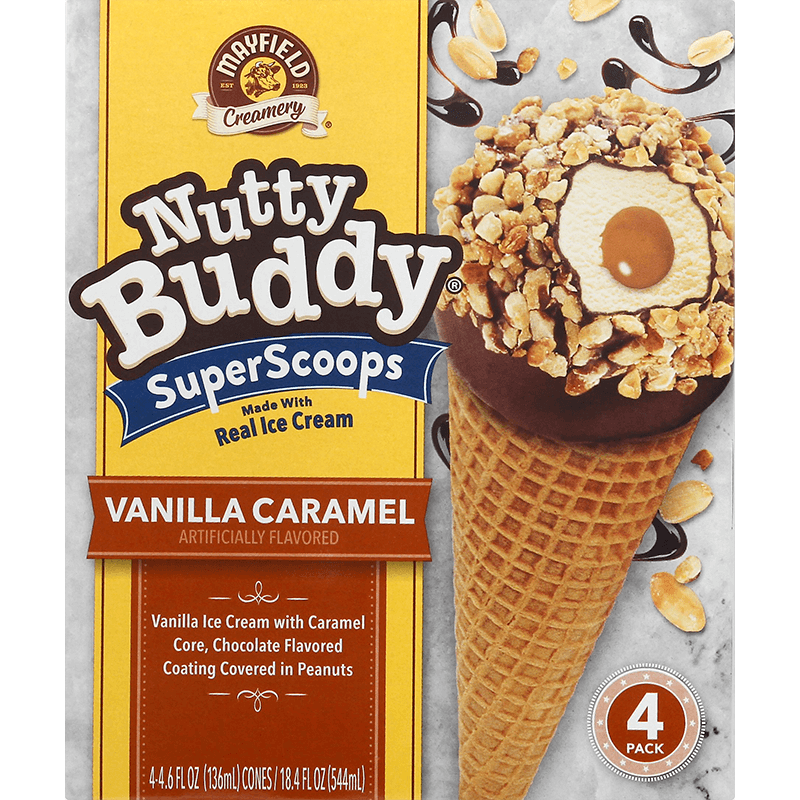 Nutty Buddy Vanilla Caramel 4 Pk