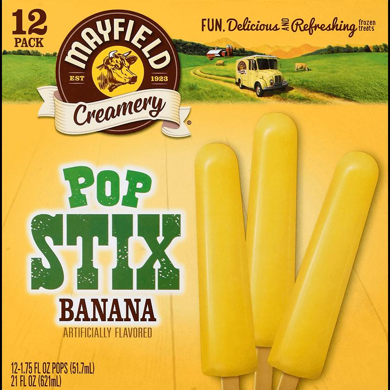 Banana Pop Stix 12 Pk