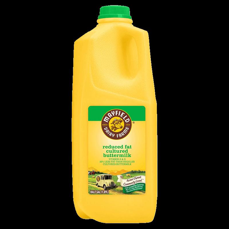 Reduced-Fat Cultured Buttermilk Plastic Half Gallon