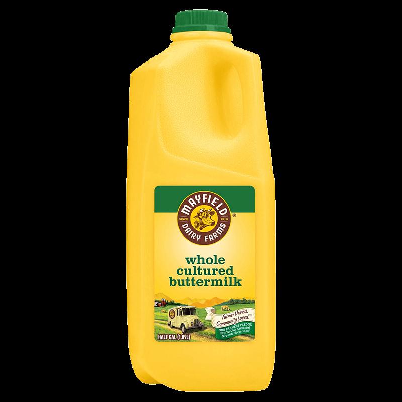 Whole Cultured Buttermilk Plastic Half Gallon